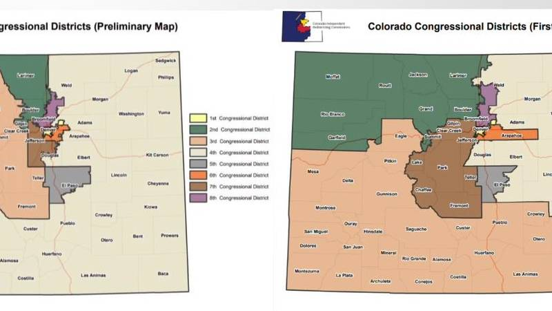 he Colorado Independent Redistricting Committee has released a revised congressional district...