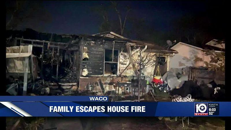 Waco family escapes house fire