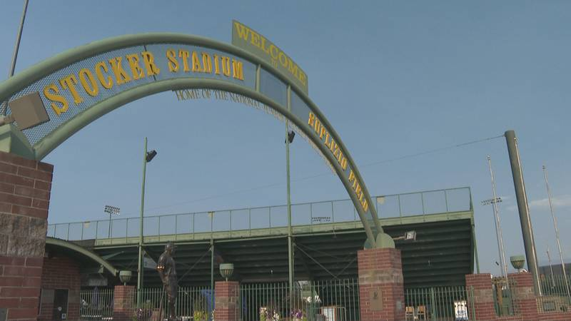 The entrance to Stocker Stadium and Suplizio Field at Lincoln Park in Grand Junction, Colo.