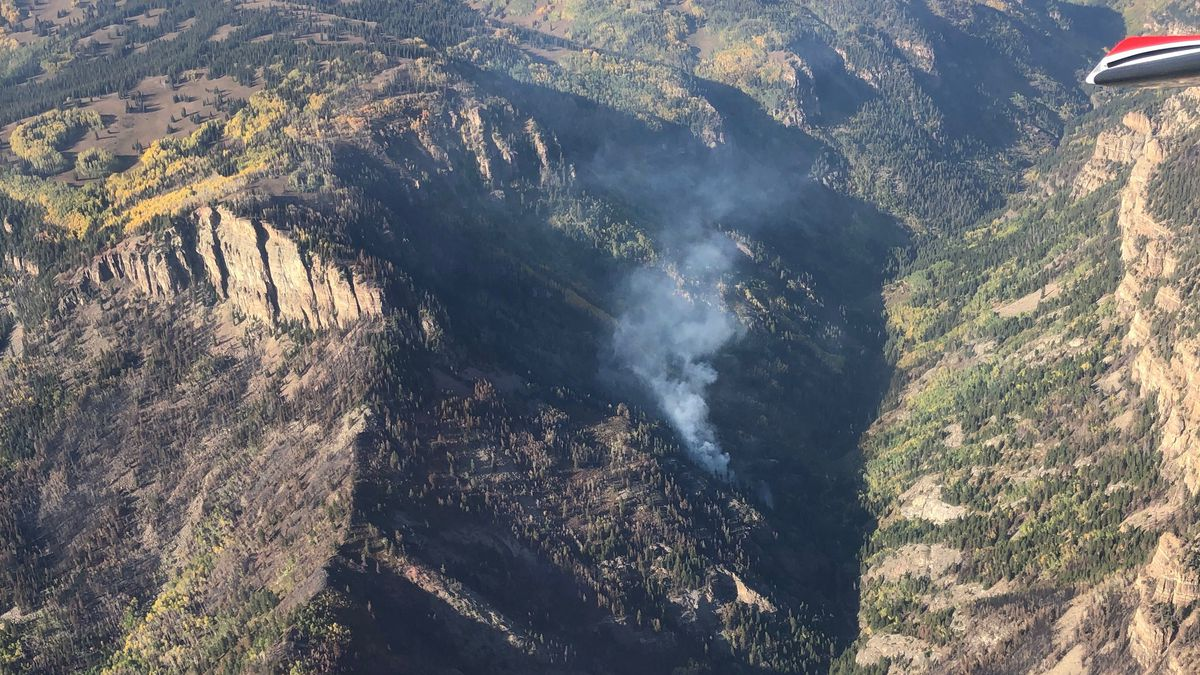 Grizzly Creek Fire taken by helicopter on Sept. 21st.