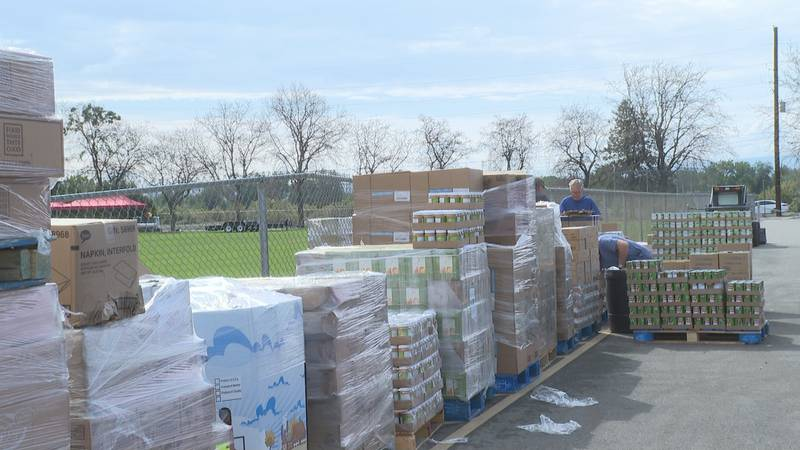 Preparations for Convoy of Hope event