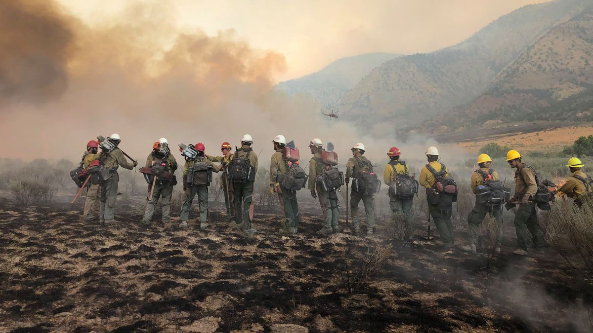 Firefighters from all across the state and from across the country have traveled to help local agencies fight this massive blaze.