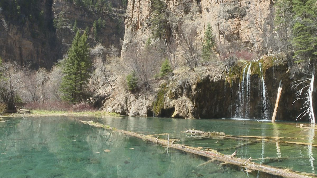 The Hanging Lake in Glenwood Canyon.