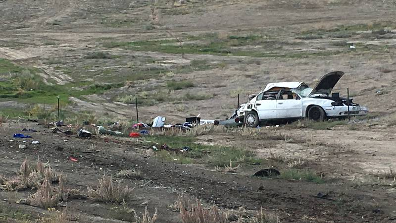 I-70 single vehicle rollover accident near Clifton exit